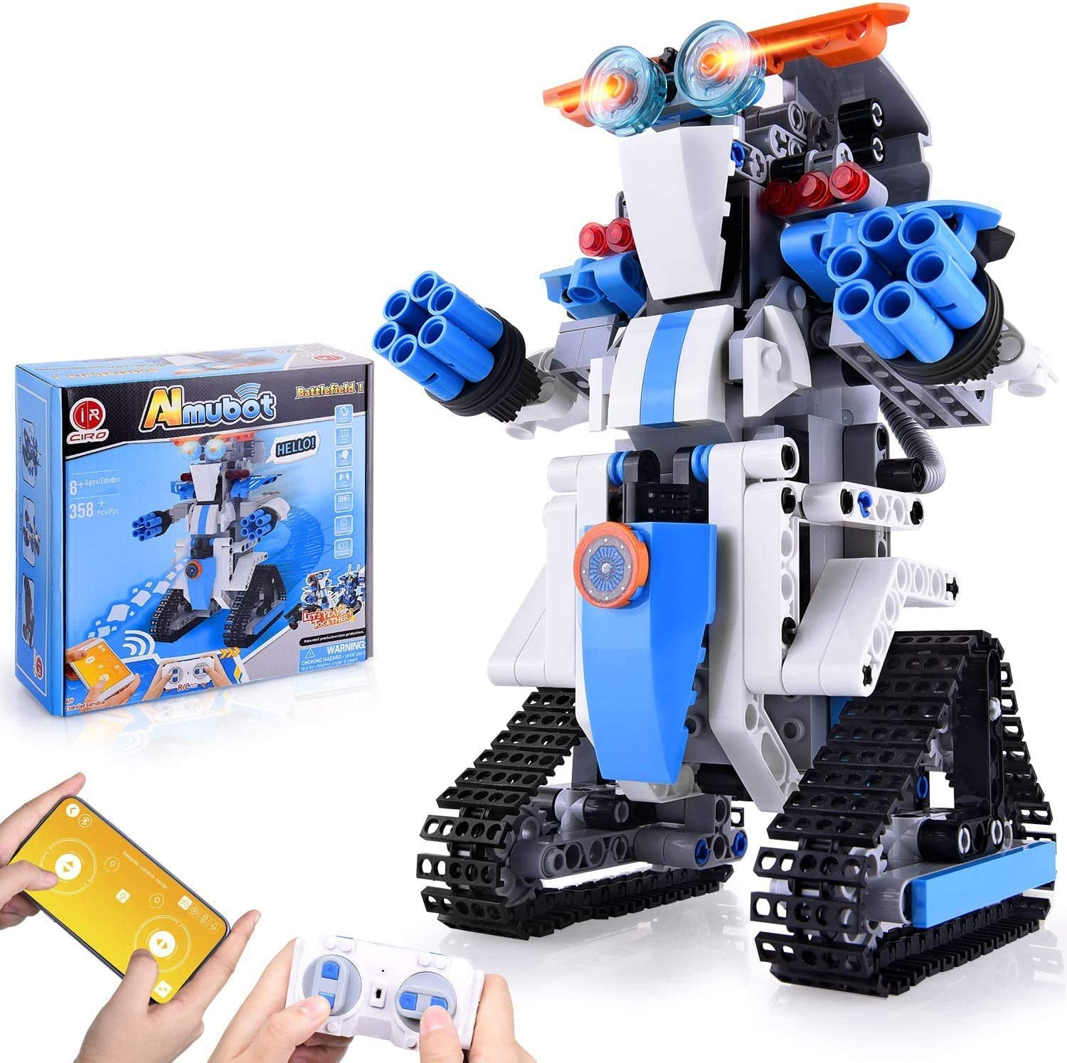 Robot Building Kit, Remote & APP Controlled STEM Learning Educational Science Building Toys for Kids Ages 8+, New 2021 (349 Pieces)