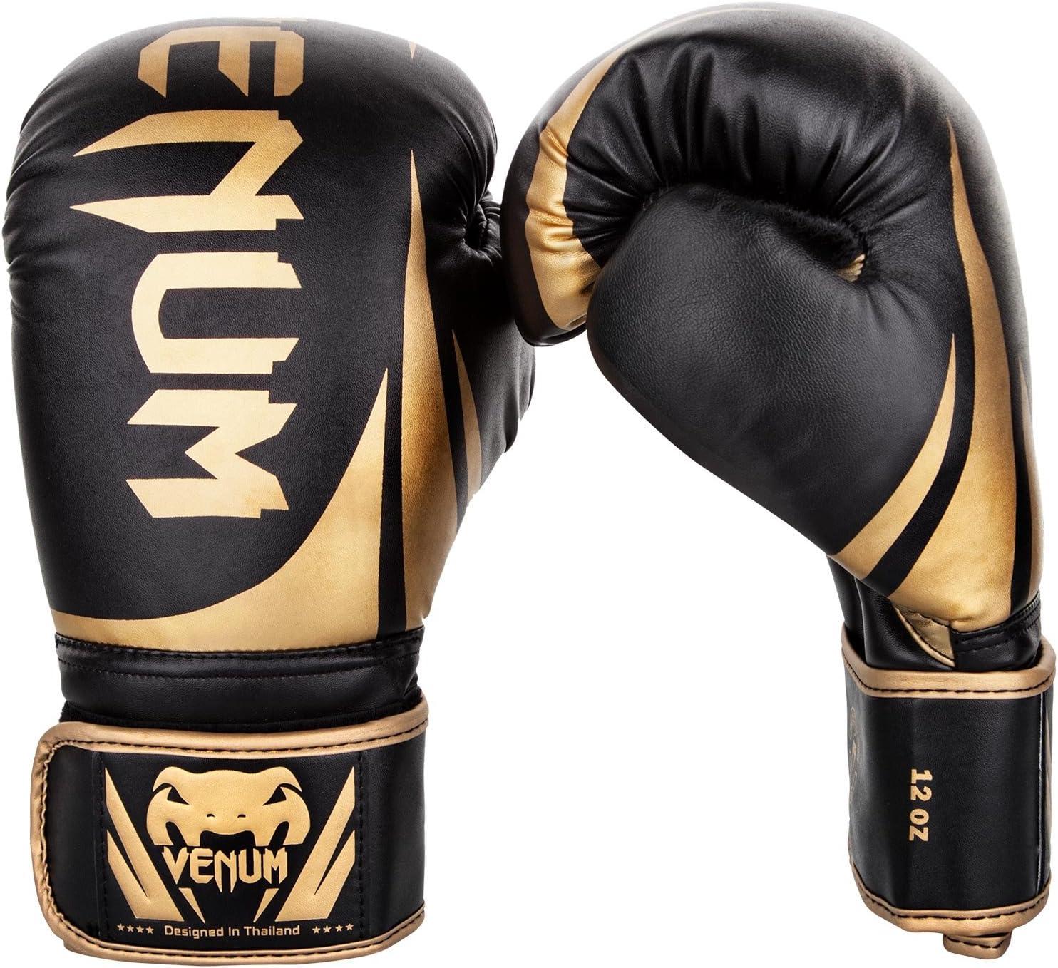 VENUM Challenger 2.0 Guantes de Boxeo, Unisex Adulto, Negro/Dorado, 14 oz: Amazon.es: Deportes y aire libre