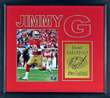 "Jimmy Garoppolo ""Jimmy G"" Impact Display (SGA Signature Engraved Plate  Series) Framed 5115dc3b6"