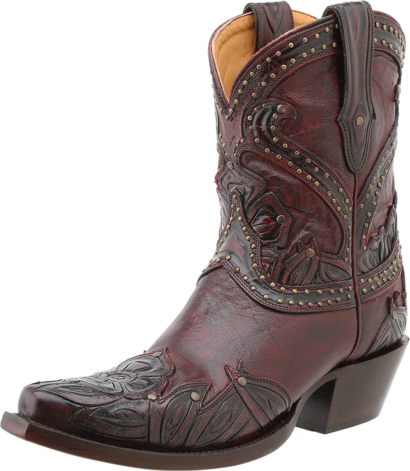 [Lucchese] レディースTooled Petal Leather Western Boot 9 B(M) US Red Tooled Petal B00EJD40RI