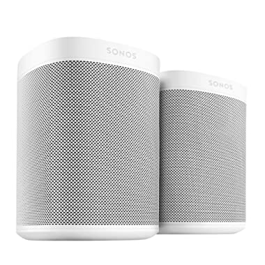 Sonos One (Gen 2) Two Room Set Voice Controlled Smart Speaker with Amazon Alexa Built In (White)