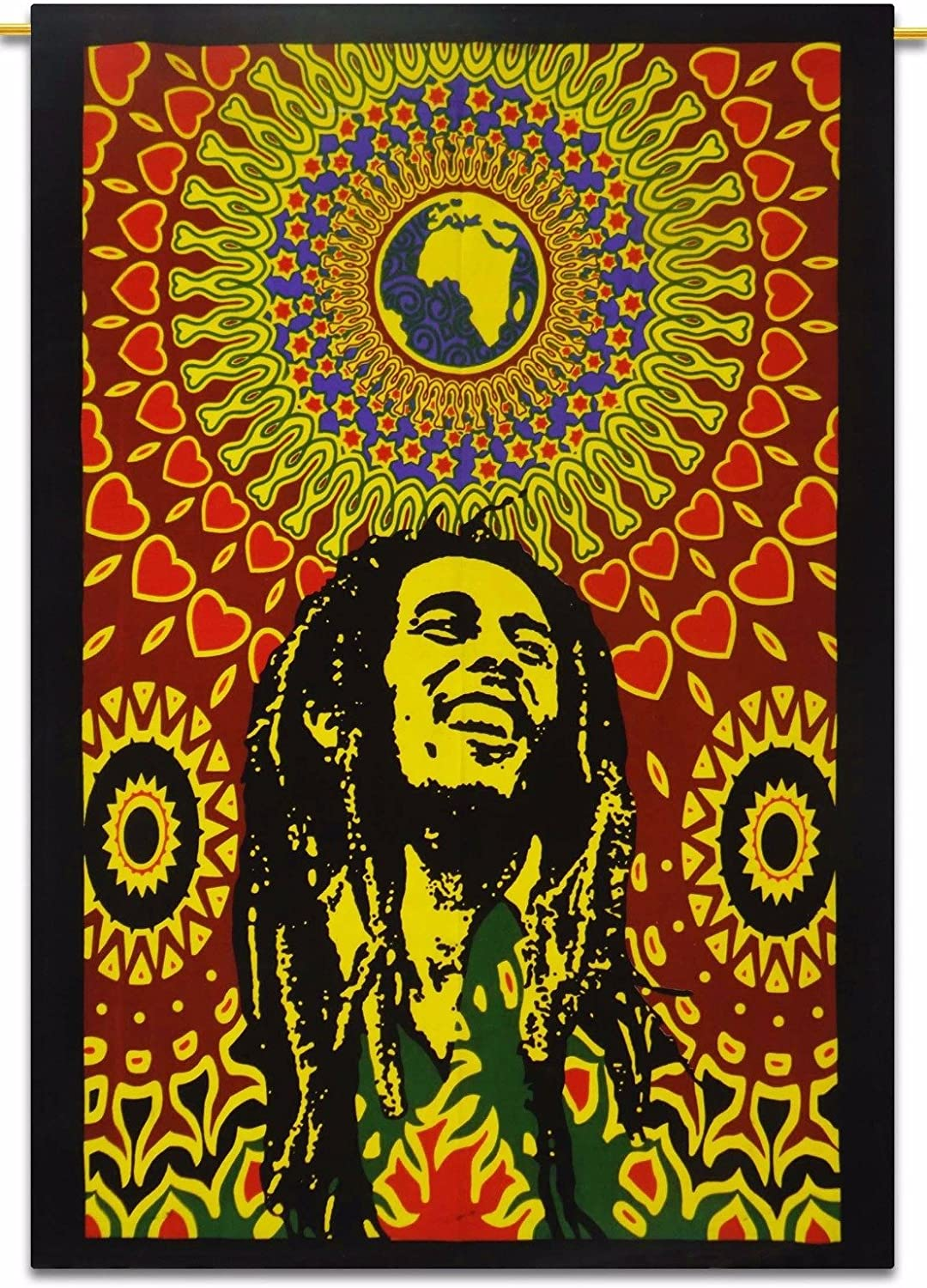 Rastogi Handicrafts Tapestry Hippie Tapestry, Hippy Mandala Bohemian Indian Dorm Decor Tapestries,Psychedelic Wall Hanging Ethnic Decorative Multi Color 84x54 Inch Expedited Shipping