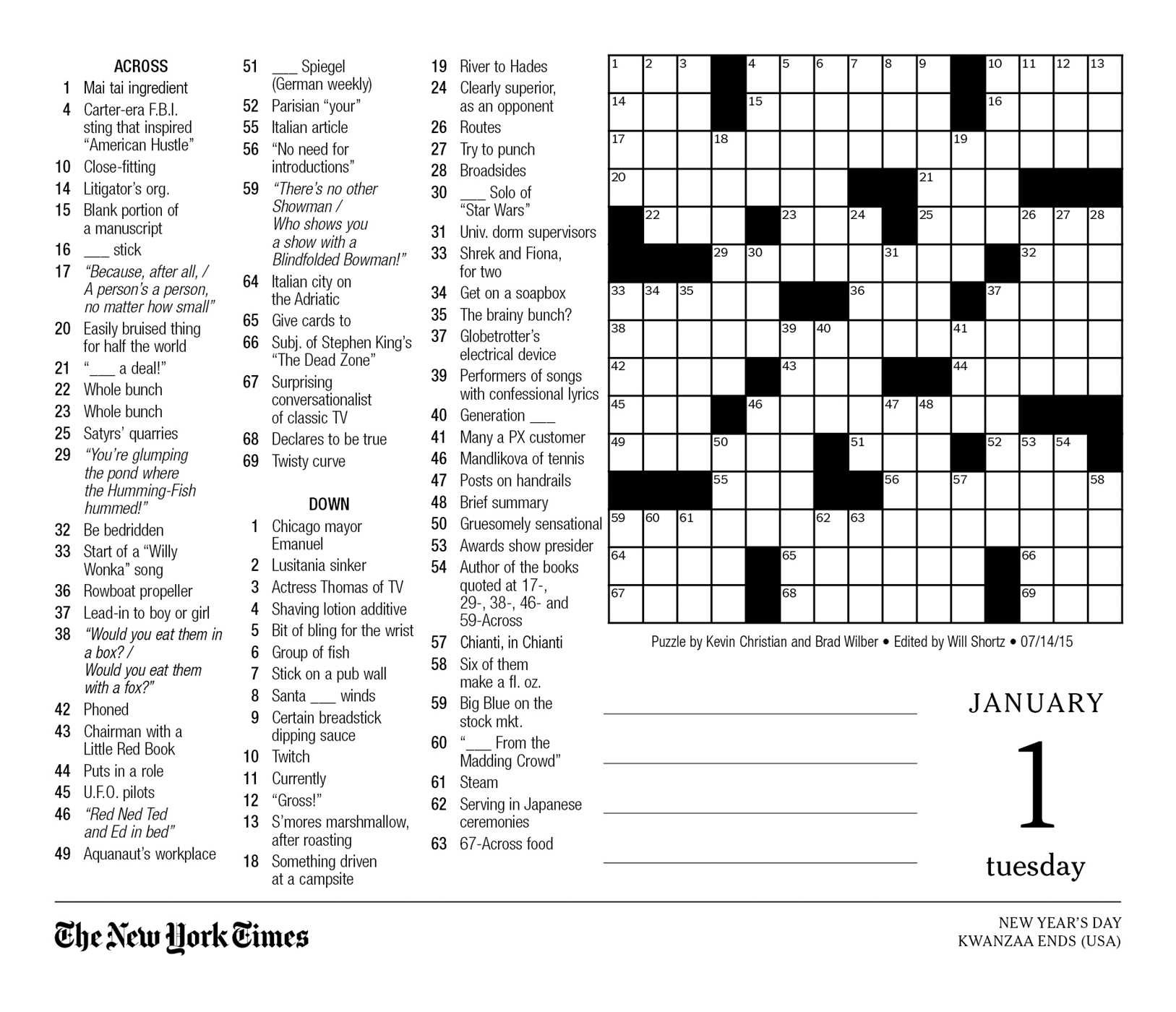 graphic relating to Printable La Times Crossword called The Fresh York Situations Crossword Puzzles 2019 Working day-toward-Working day