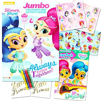 Shimmer And Shine Coloring Book Set Books Over Stickers Crayons