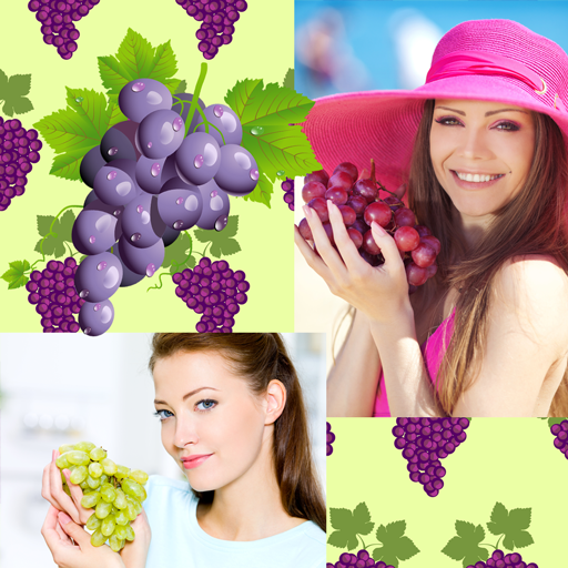 Grapes Photo Collage -