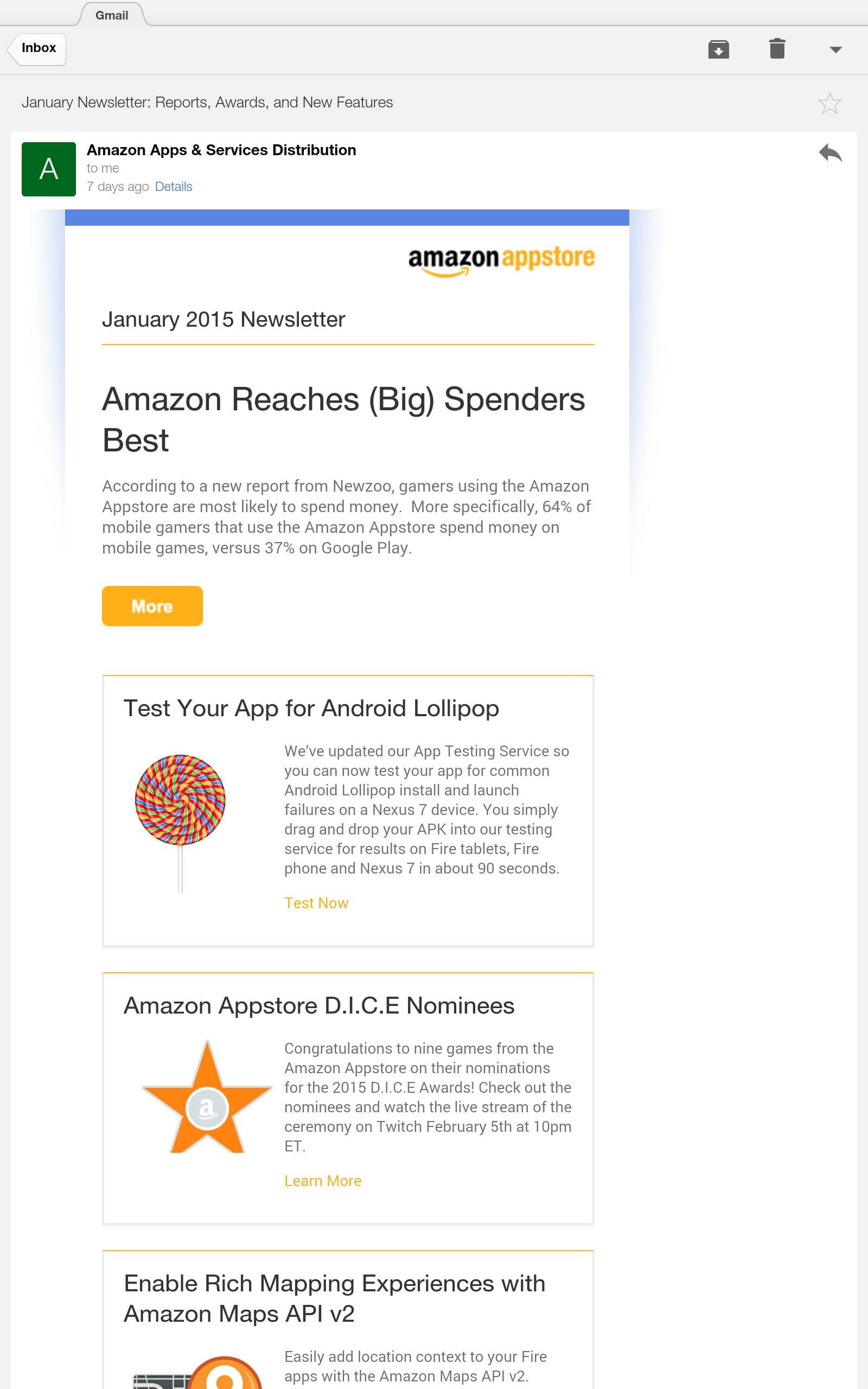 Amazon.com: Gmail: Appstore For Android