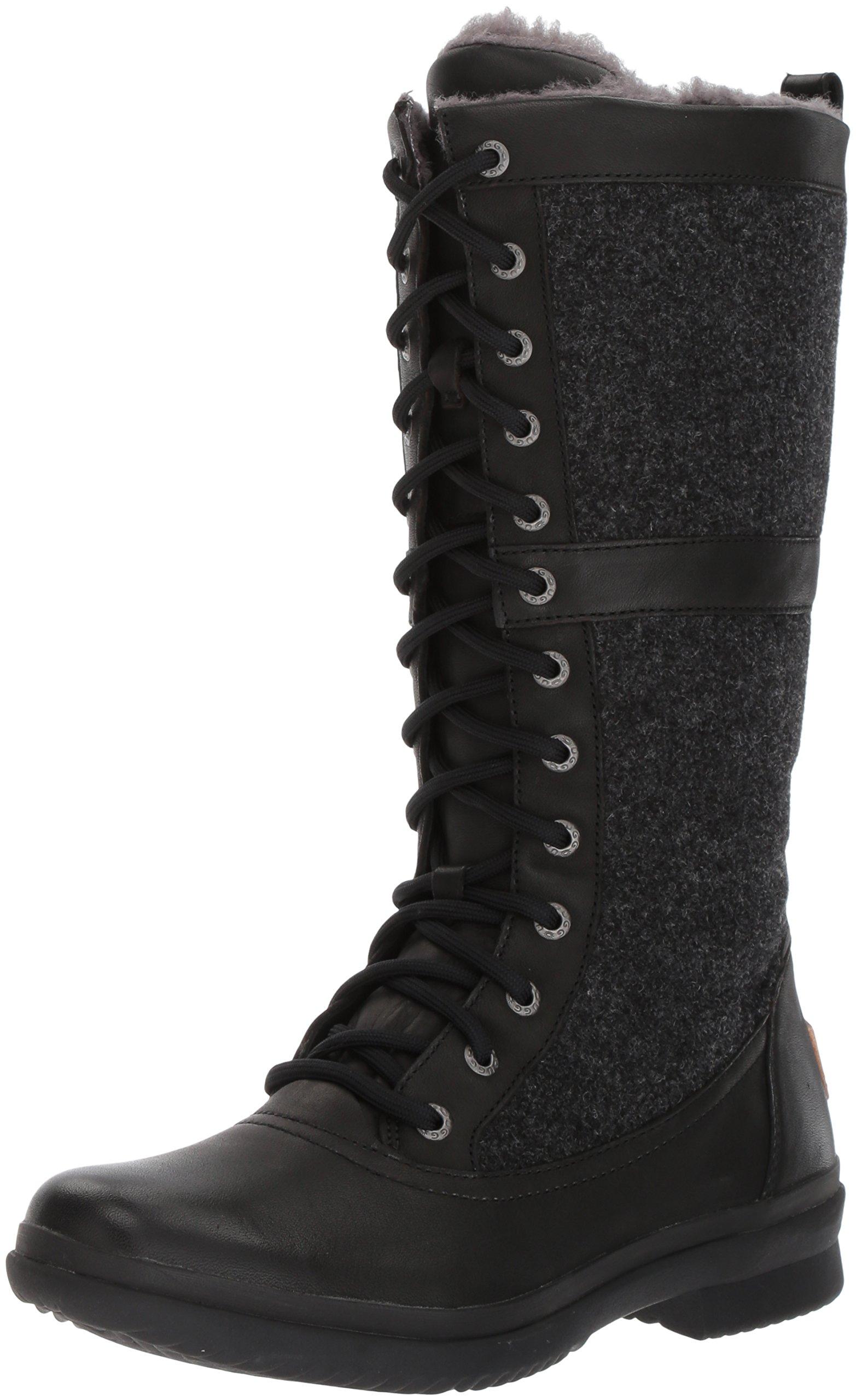 UGG Women's Elvia Boot, Black, 8 M US