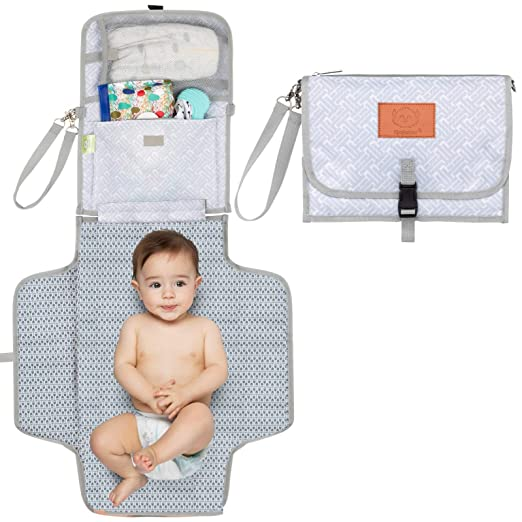 Waterproof Foldable Diaper Changing Pad Infant Cotton Urinal Mat for Home Travel Outside Portable Nappy Change Mat