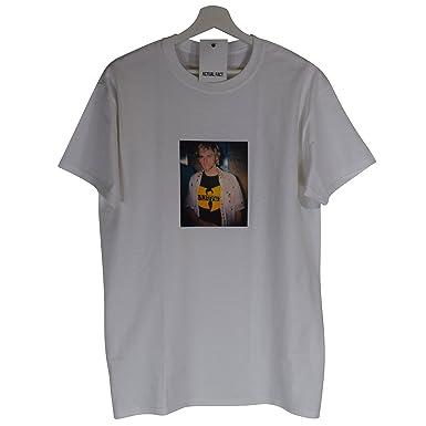 90e109a91e47c Actual Fact Kurt Cobain Wu Tang Clan Nirvana Seattle Grunge White Tee T- Shirt Top (Small-XXLarge)  Amazon.co.uk  Clothing