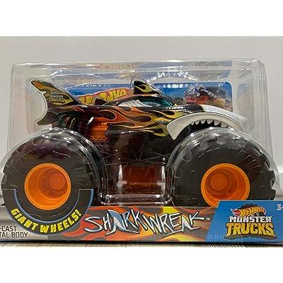 2020 Hot Wheels Monster Trucks Shark Wreak Die-Cast Metal Body1:24: Toys & Games