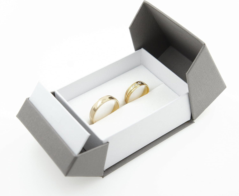 1X Juwel Geschenk fuer Rose Ring Schmuckschatulle Herz Verlobungsring Box r F6P7