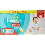 Pampers - Baby Dry Pants - Couches Taille 4 (8-14 kg) - Mega+ Pack (x94 culottes)