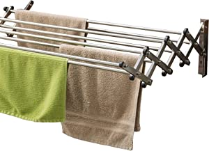 AERO W Space Saver Racks Stainless Steel Wall Mounted Collapsible Laundry Folding Clothes Drying Rack