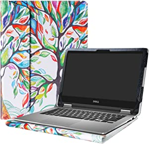 """Alapmk Protective Case Cover for 13.3"""" Dell Inspiron 13 2-in-1 7375 7378 7368 i7375 i7378 i7368 & Dell Latitude 13 3310 2-in-1 Series Laptop(Note:Not fit Dell Latitude 3310),Love Tree"""