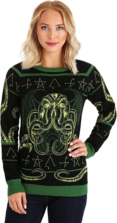 Adult Haunted House Halloween Sweater