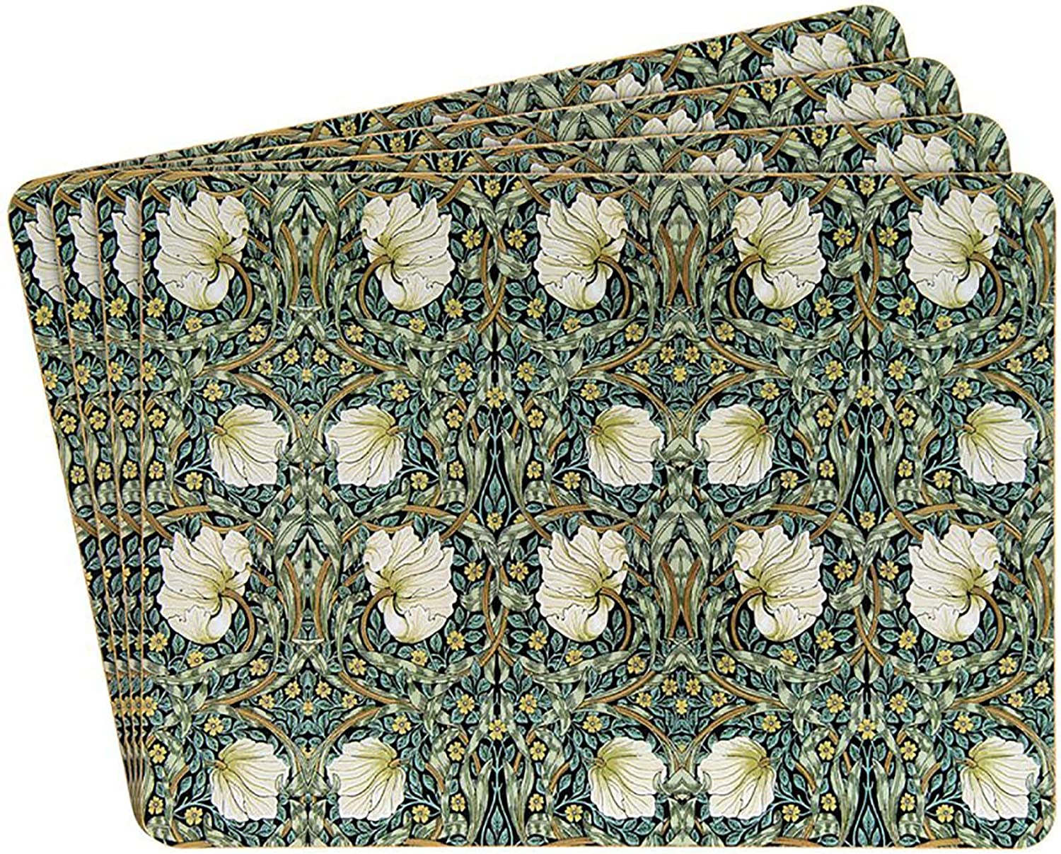 The Leonardo Collection Set de 4 Sets de Table Motif algues William Morris