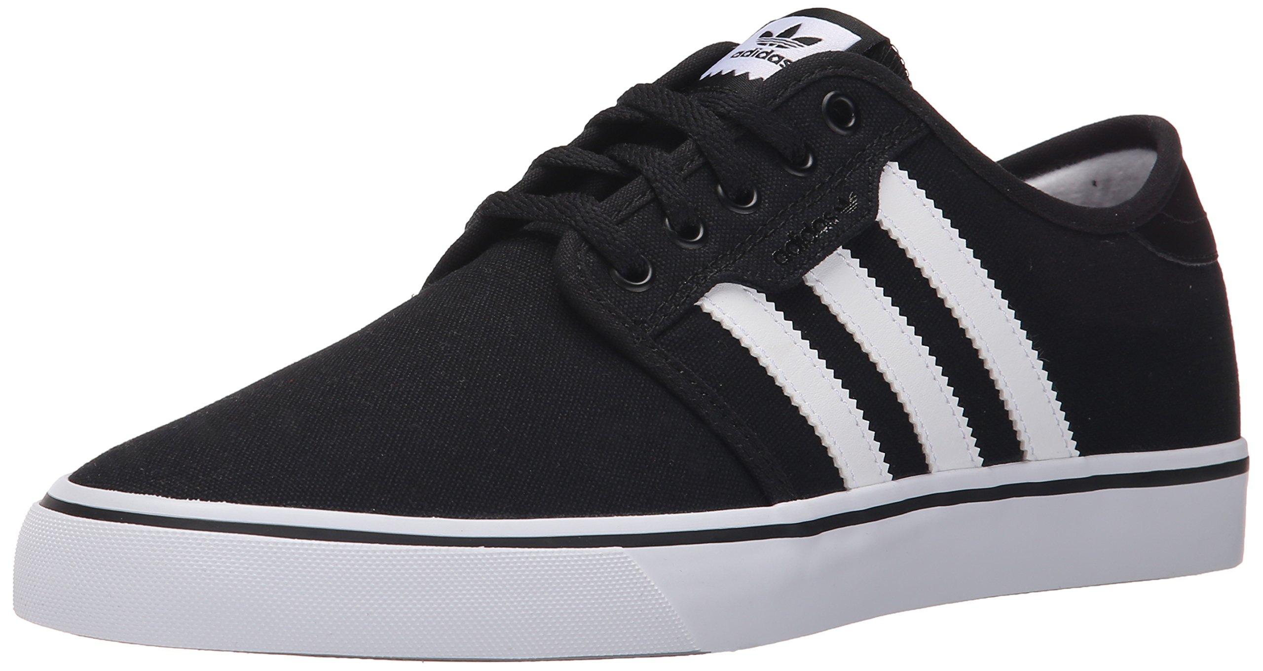 adidas Originals Men's Seeley Skate Shoe,Black/White/Gum,10 M US