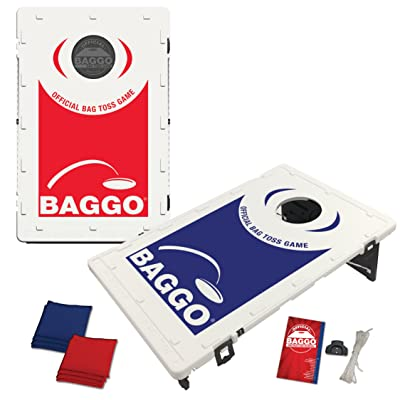 BAGGO Family Backyard Bean Bag Toss Portable Cornhole Game: Sports & Outdoors