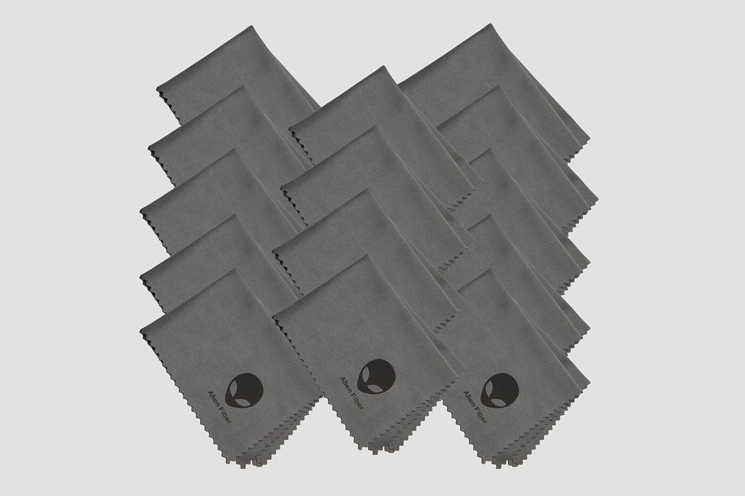 (14 PACK) Alien Fiber Microfiber Cleaning Cloths - For All LCD Screens, Tablets, Lenses, and Other Delicate Surfaces