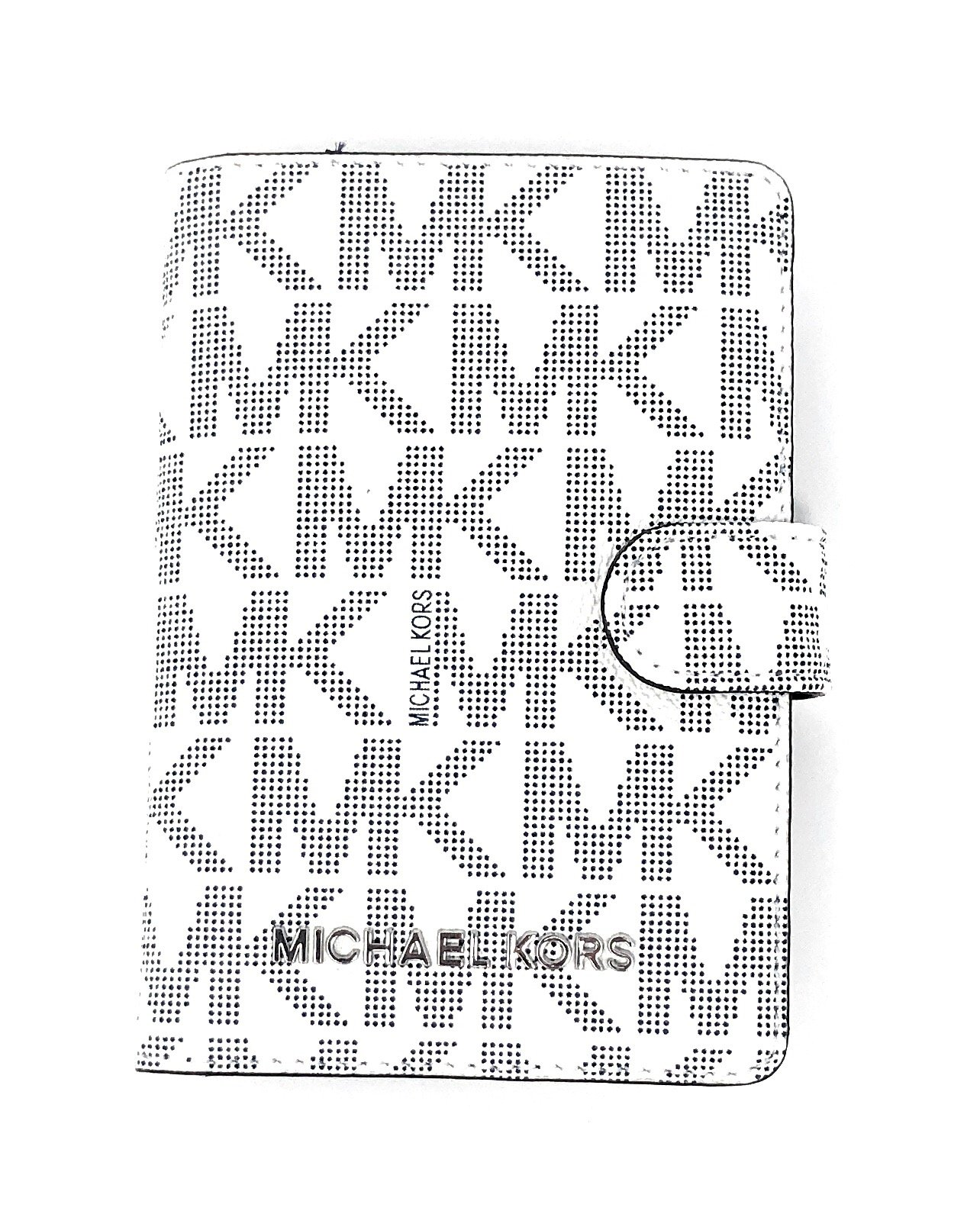 Michael Kors Jet Set Travel Passport Case Wallet (Vanilla/Navy)