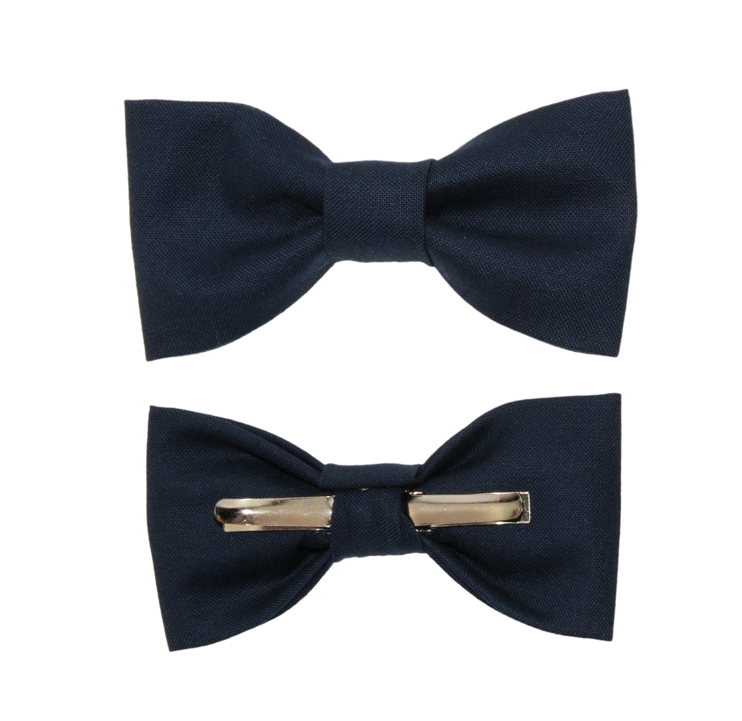 Toddler Boy 3T 4T Navy Blue Clip On Cotton Bow Tie Bowtie by amy2004marie