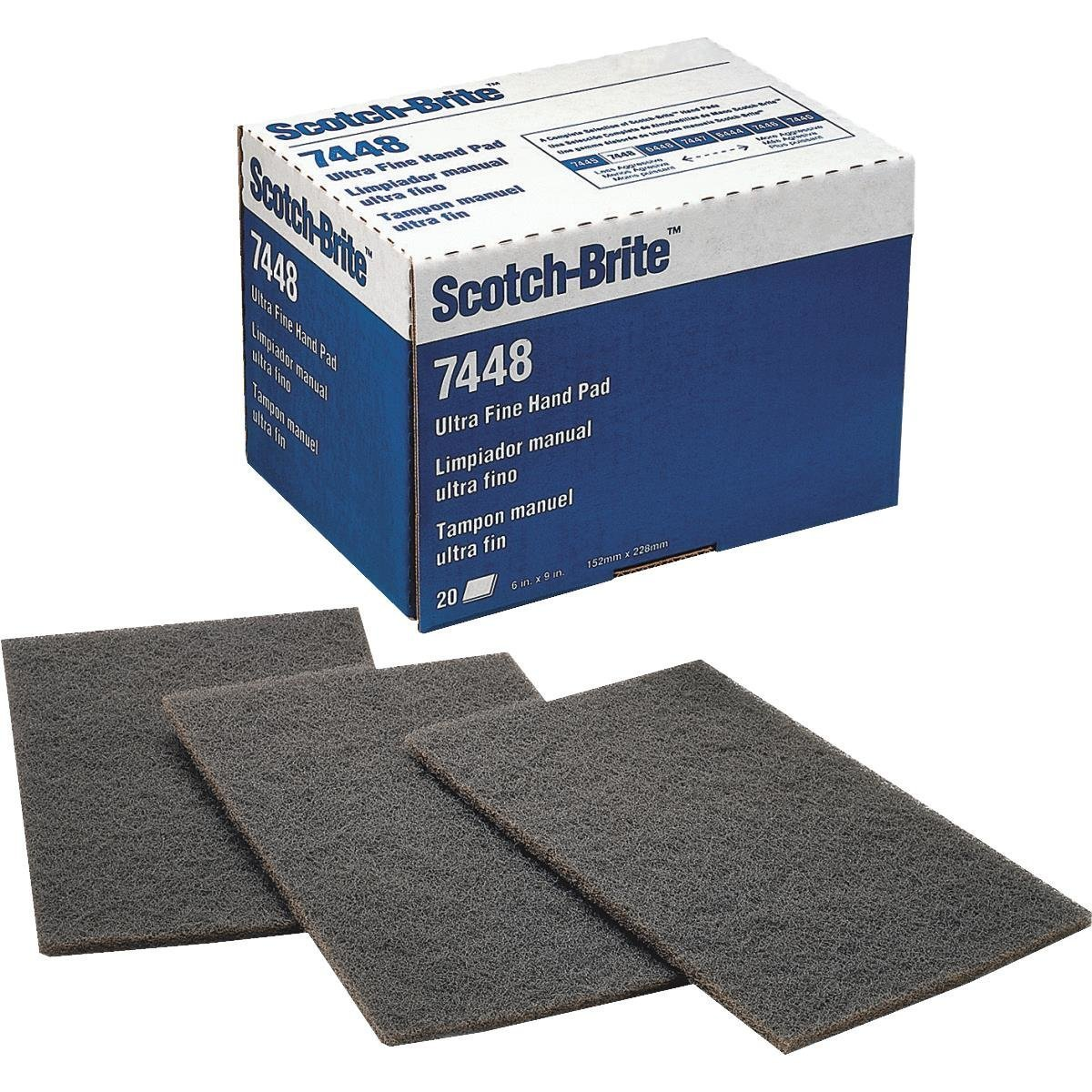 3M Scotch-Brite Ultra Fine Hand Pad 7448-20 Count 8119Pt6JXgL