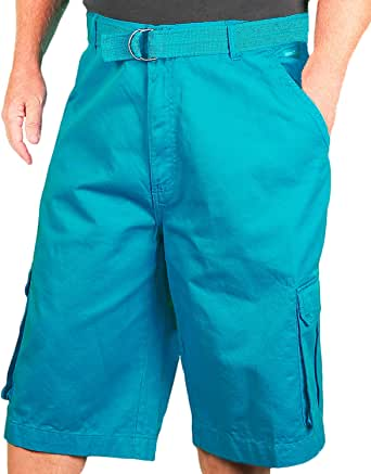 Amazon.com: AKADEMIKS Big Men's Cargo Shorts, Aqua, Size
