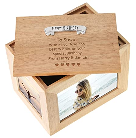 Girls 30th Birthday Personalised Engraved Large Oak Photo Picture Frame Keepsake Box Mum Sister Girlfriend Wife Gift Amazoncouk Kitchen Home