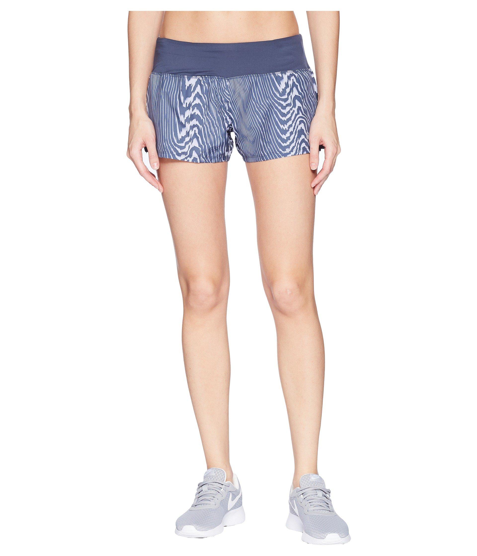 Nike Womens Dri Fit 3'' Running Crew Shorts (Blue, Medium 3) by Nike