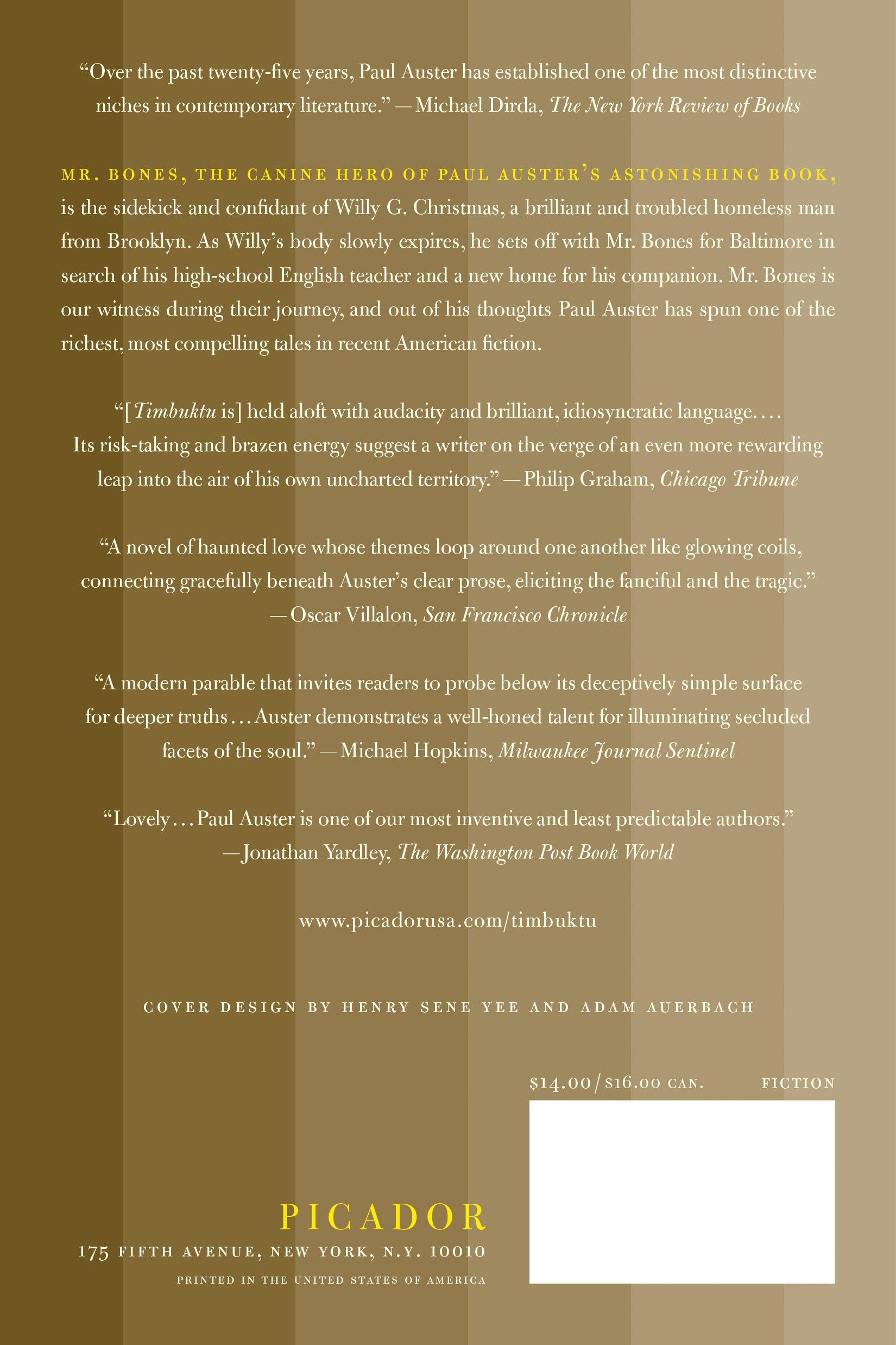 Auster timbuktu pdf paul