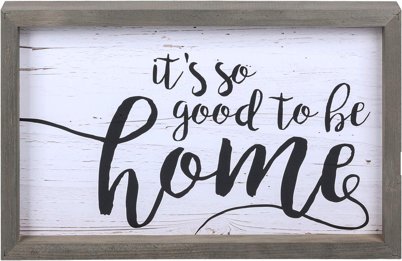 MaxwellYule I Love Us Wood Sign Farmhouse Style Framed Wood Wall Art Modern Rustic Wall Decor