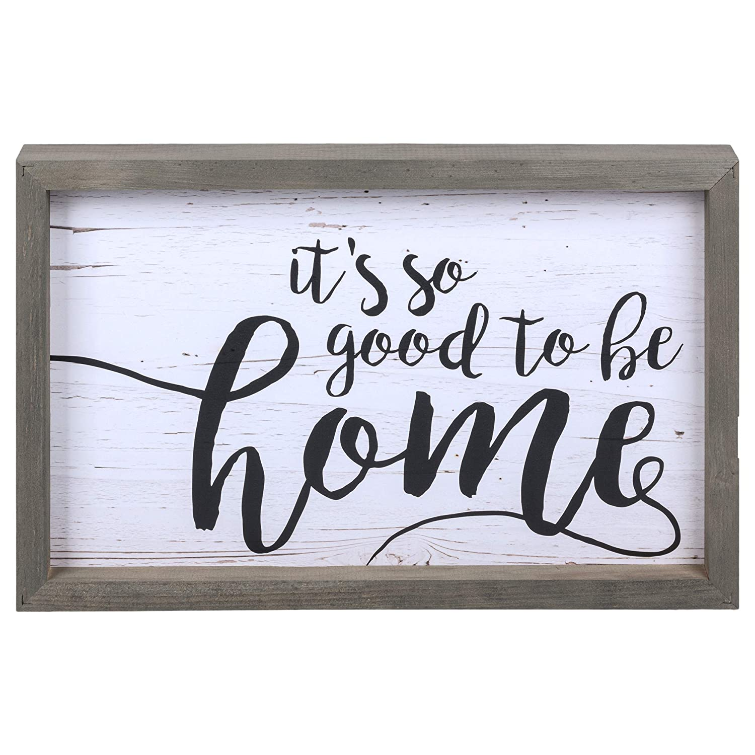 P. Graham Dunn It's So Good to Be Home Distressed 17.8 x 11.3 Inch Solid Pine Wood Farmhouse Frame Wall Plaque
