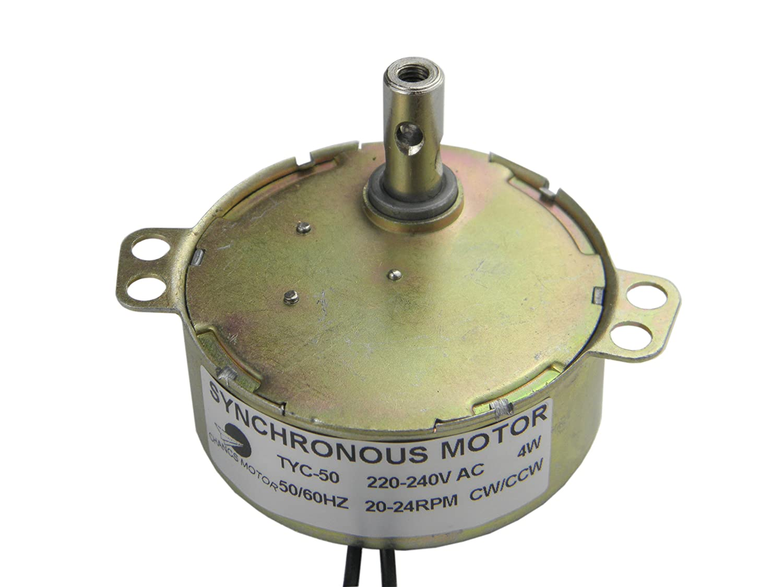 TYC-50 Motor sincrónico 220V AC 20-24RPM CW/CCW 4W Poder