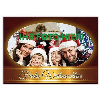 Weihnachtskarten Personalisiert.Weihnachtskarte Klappkarte Din A6 Personalisiert Mit Ihrem Foto Mit Umschlag Im Set Selbst Gestalten
