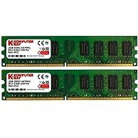 Komputerbay Mémoire pour ordinateur de bureau DDR2 667 MHz PC2-5300 PC2-5400 667 DIMM 240 broches 4 Go 2 x 2 Go 4 Go (2 x 2 Go)
