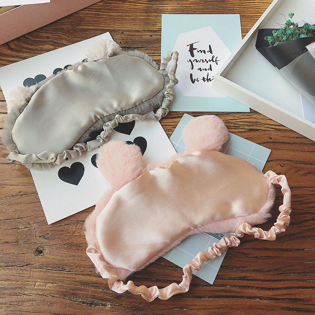 Beautijiam Masque pour les yeux pour dormir Lapin Mignon Koala Nuit Eye-cover lumi/ère Masque de blocage pour femme enfants
