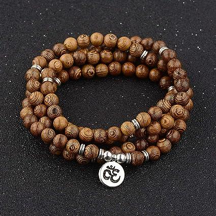 Amazon.com: Hebel 8MM Fashion Natural Stone Bracelet 108 ...