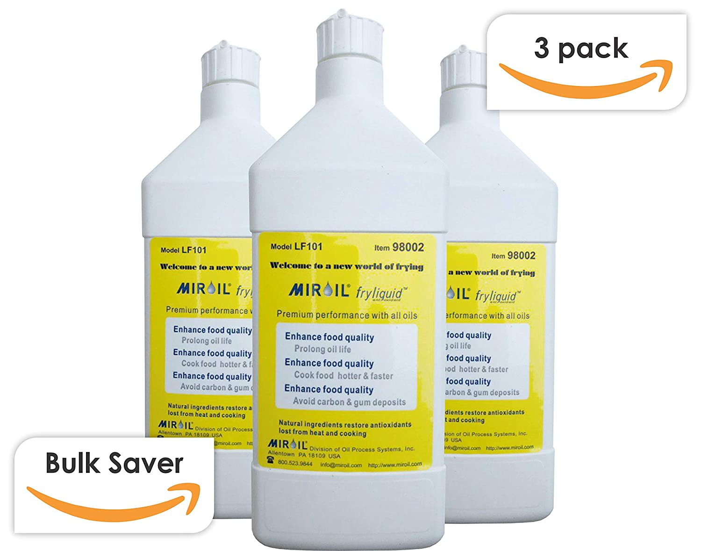 Miroil FryLiquid LF301   3 x 1 Litre Bottles   Antioxidant for Fry Oil   Prevent Oil Breakdown   Fry Healthier   Vitamin Therapy for Deep Fryer Oil   Item ...