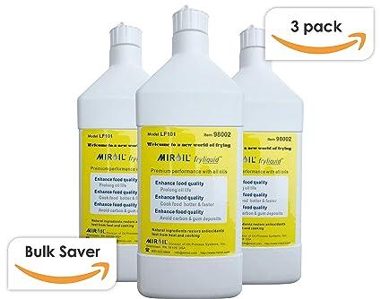 Miroil FryLiquid LF301 | 3 x 1 Litre Bottles | Antioxidant for Fry Oil | Prevent