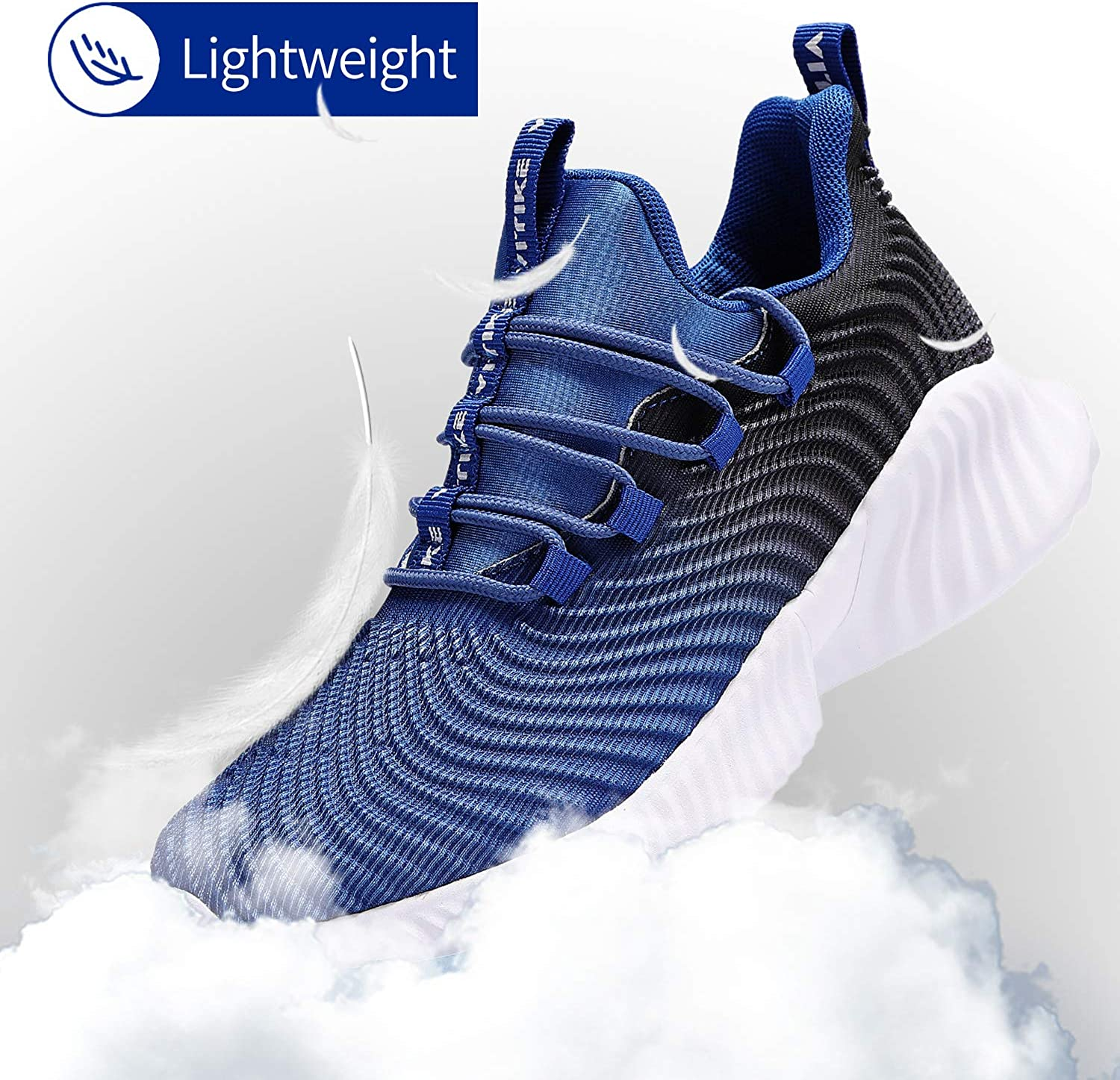 FANGFIUP Boys Running Shoes Kids Sneakers Girls Athletic Tennis Shoe Breathable Lightweight Slip on Sports Knit Sock Sneaker for Little Big Kid