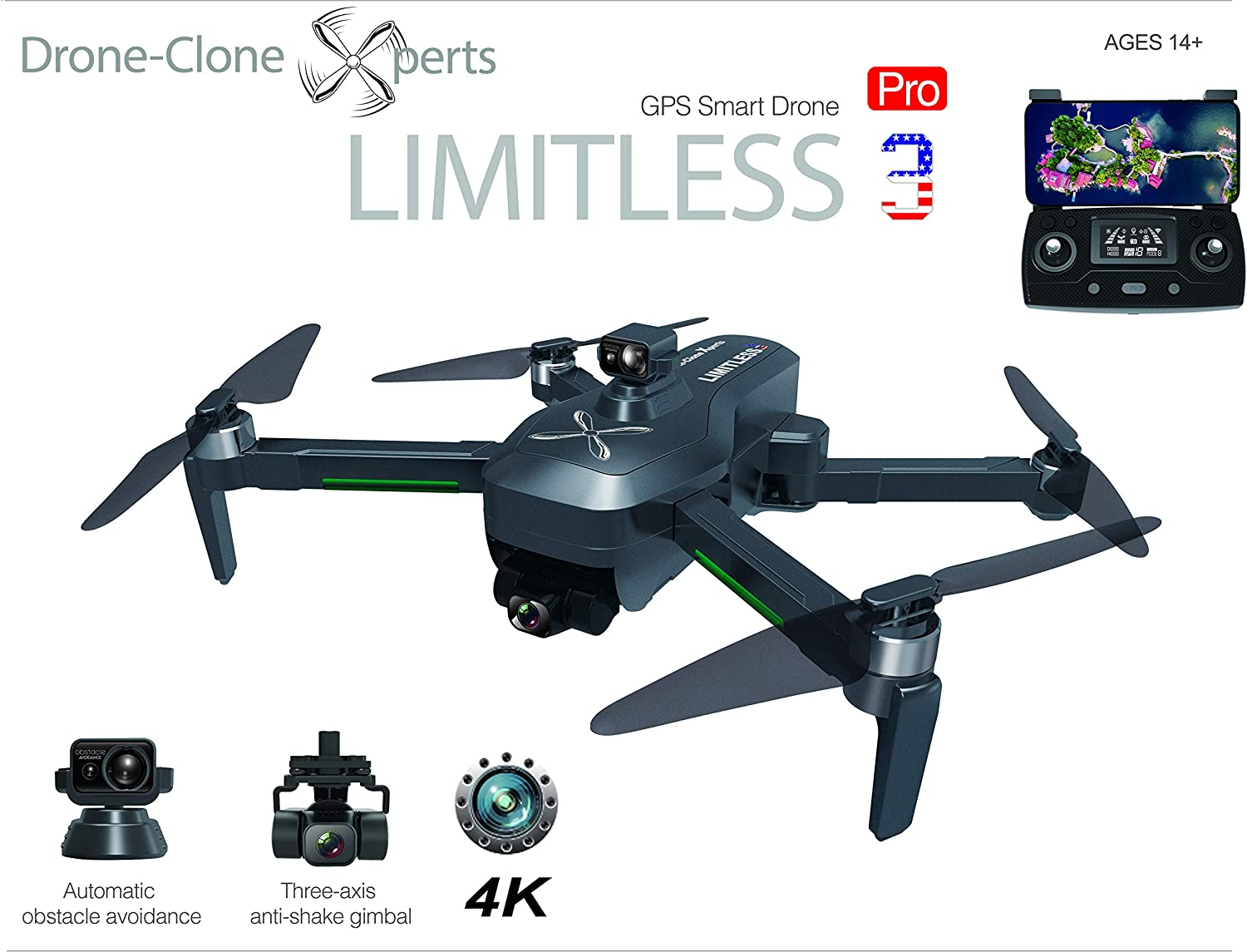 Drone X Pro LIMITLESS 3 with 4K Camera