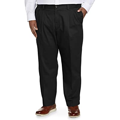 Essentials Men's Big & Tall Relaxed-fit Wrinkle-Resistant Pleated Chino Pant fit by DXL fit by DXL: Clothing
