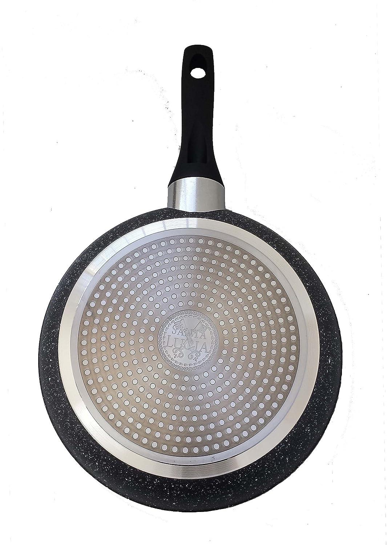 SANTA LUCIA Juego de 3 sartenes Marble de Aluminio Forjado con Medidas de 20/22/26cm: Amazon.es: Hogar