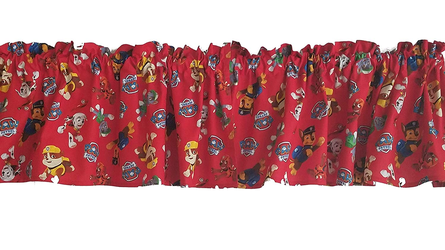 Chase Paw Patrol Curtains Rocky and Zuma Children Character Curtains Rubble Red Paw Patrol Curtains 41.5 Inches Wide x 13.5 Inches Long