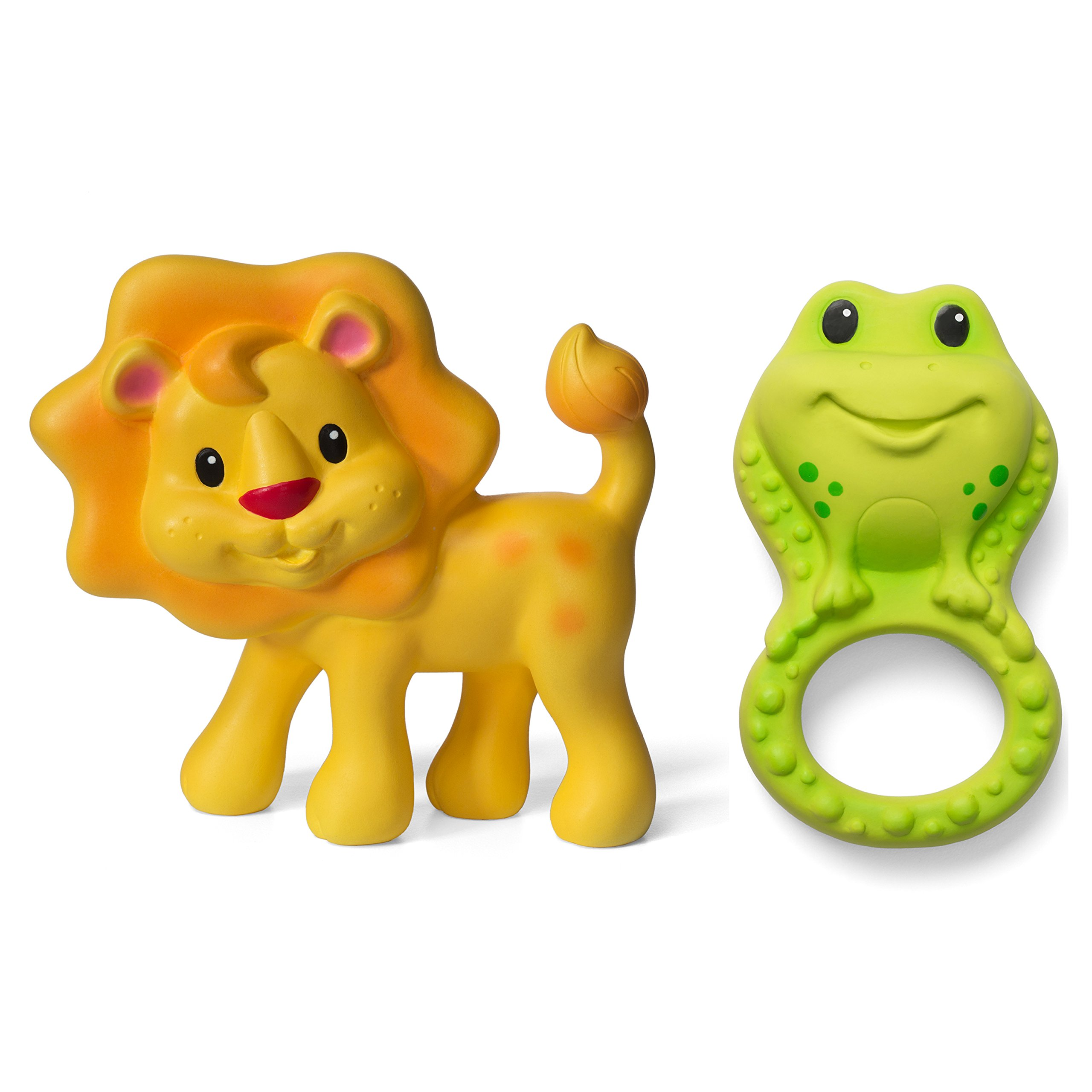 Infantino Squeeze and Teethe Pals, Lion and Frog