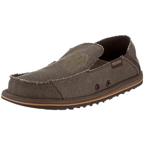 Skechers - Mocasines de tela para hombre, color marrón, talla 48.5: Amazon.es: Zapatos y complementos