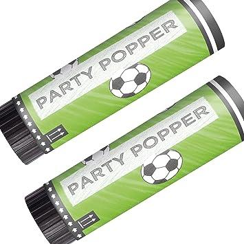 Amscan 2 cañones de Confeti * Balones de Fútbol * para WM ...