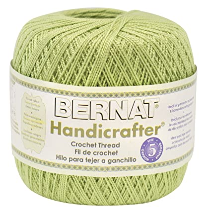 Amazoncom Bernat Handicrafter Crochet Thread Solid 3 Ounce