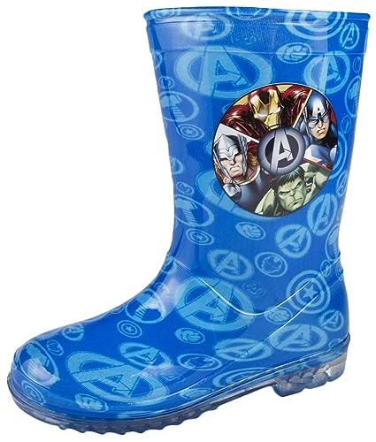 Boys Marvel Avengers Wellington Boots Kids Snow Wellies Mid Calf Boots Size Uk 7-1 VE_9711