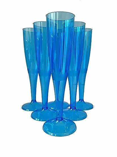 Regalzone - 50 Copas de champán Desechables, Color Azul